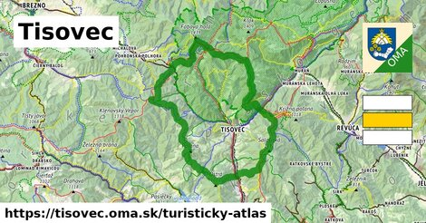 ikona Tisovec: 93km trás turisticky-atlas  tisovec