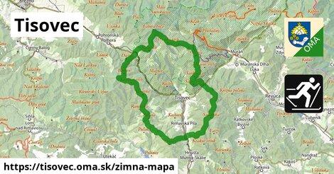 ikona Tisovec: 111m trás zimna-mapa  tisovec