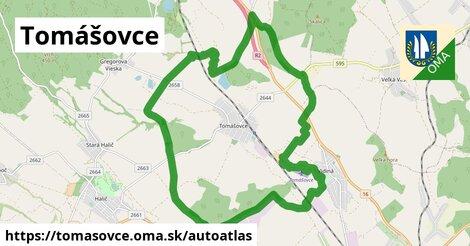 ikona Mapa autoatlas  tomasovce