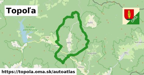 ikona Mapa autoatlas  topola
