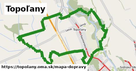 ikona Topoľany: 15,0km trás mapa-dopravy v topolany