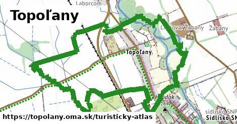 ikona Topoľany: 1,49km trás turisticky-atlas v topolany