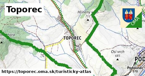 ikona Turistická mapa turisticky-atlas  toporec