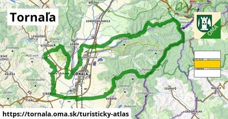 ikona Tornaľa: 14,1km trás turisticky-atlas  tornala