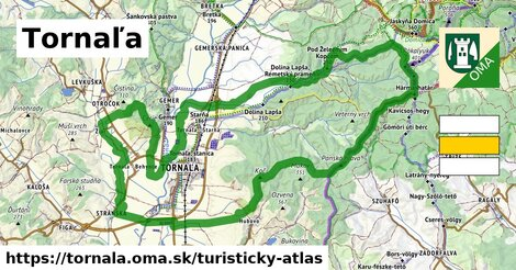 ikona Turistická mapa turisticky-atlas  tornala