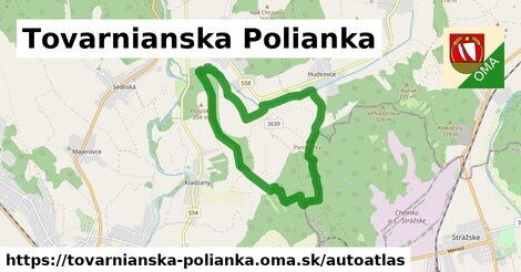 ikona Mapa autoatlas  tovarnianska-polianka