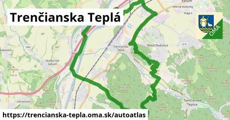 ikona Mapa autoatlas  trencianska-tepla