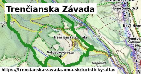 ikona Trenčianska Závada: 2,4km trás turisticky-atlas  trencianska-zavada