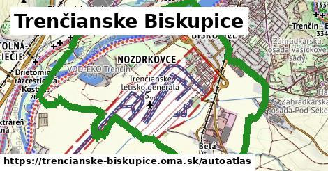 ikona Mapa autoatlas  trencianske-biskupice