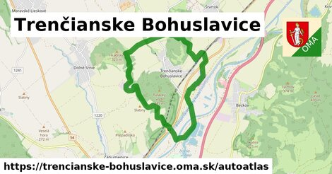 ikona Mapa autoatlas  trencianske-bohuslavice