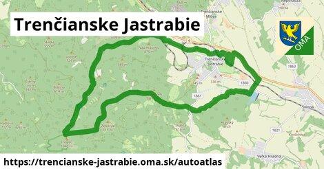 ikona Mapa autoatlas  trencianske-jastrabie