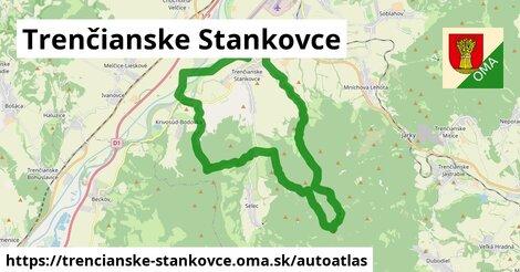 ikona Mapa autoatlas  trencianske-stankovce