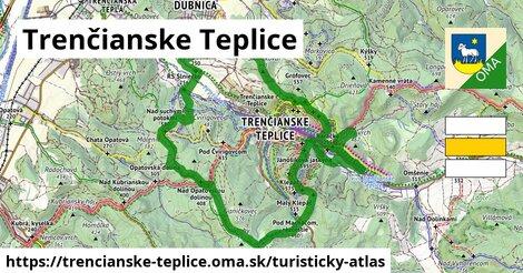 ikona Trenčianske Teplice: 55km trás turisticky-atlas  trencianske-teplice