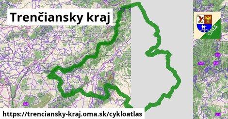 ikona Trenčiansky kraj: 1656km trás cykloatlas  trenciansky-kraj