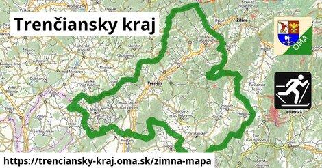 ikona Trenčiansky kraj: 74km trás zimna-mapa  trenciansky-kraj