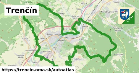 ikona Mapa autoatlas  trencin