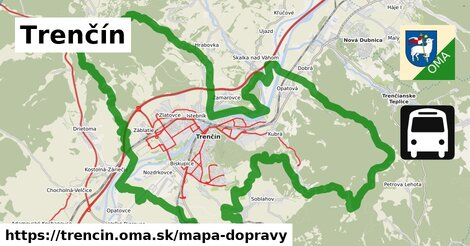 ikona Trenčín: 247km trás mapa-dopravy  trencin