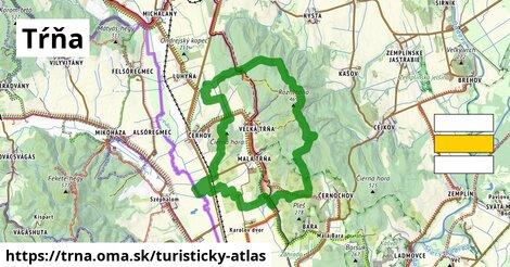 ikona Tŕňa: 28km trás turisticky-atlas  trna