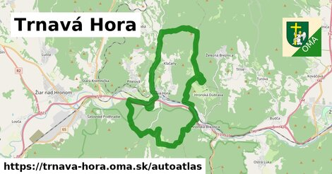 ikona Mapa autoatlas  trnava-hora