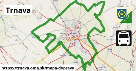 ikona Trnava: 102km trás mapa-dopravy  trnava