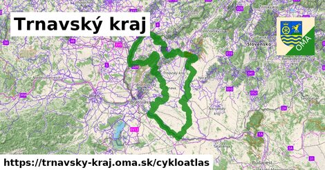ikona Trnavský kraj: 1044km trás cykloatlas  trnavsky-kraj