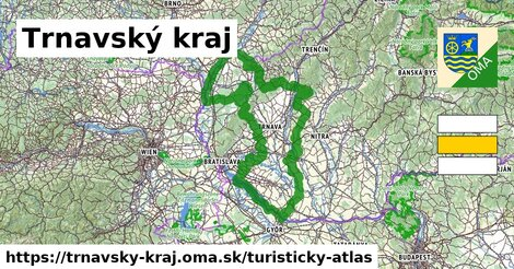 ikona Trnavský kraj: 747km trás turisticky-atlas  trnavsky-kraj