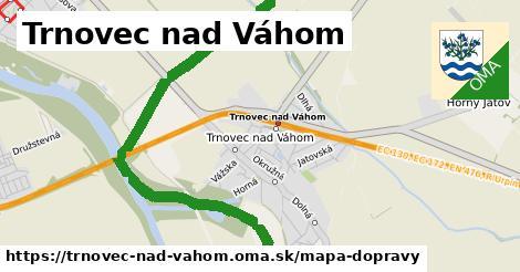 ikona Trnovec nad Váhom: 22km trás mapa-dopravy  trnovec-nad-vahom