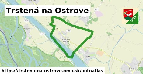 ikona Mapa autoatlas  trstena-na-ostrove