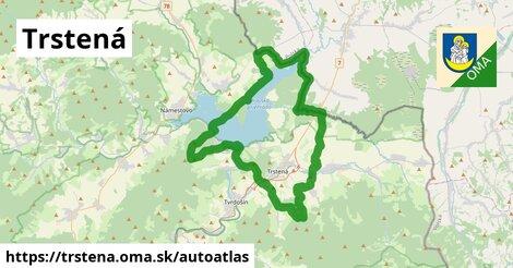 ikona Mapa autoatlas  trstena