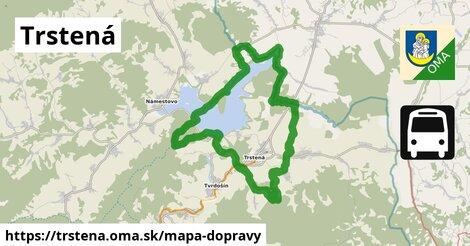 ikona Trstená: 5,9km trás mapa-dopravy  trstena