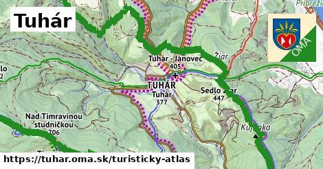 ikona Tuhár: 14,2km trás turisticky-atlas  tuhar
