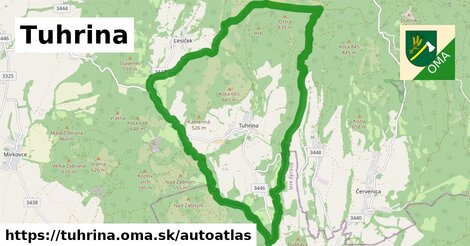 ikona Mapa autoatlas  tuhrina
