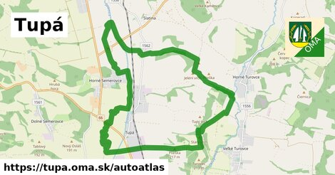 ikona Mapa autoatlas  tupa