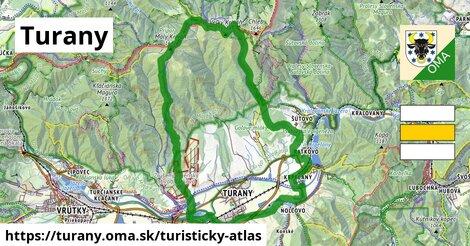 ikona Turistická mapa turisticky-atlas  turany
