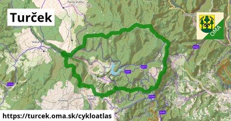 ikona Turček: 46km trás cykloatlas  turcek