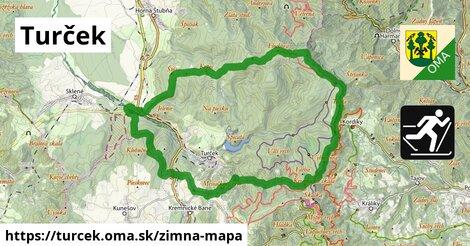 ikona Turček: 61km trás zimna-mapa  turcek