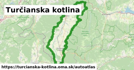 ikona Mapa autoatlas  turcianska-kotlina