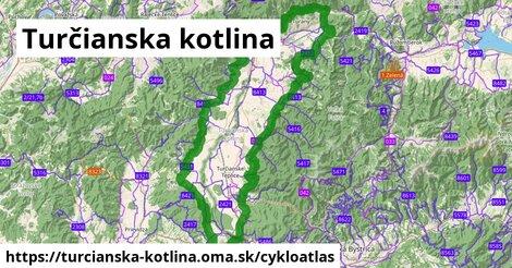 ikona Turčianska kotlina: 216km trás cykloatlas  turcianska-kotlina