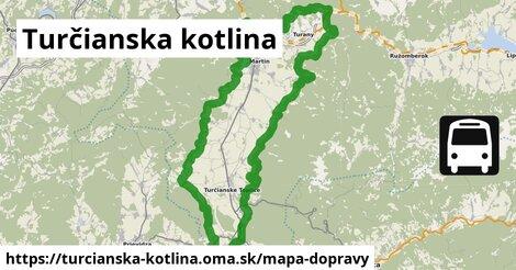 ikona Turčianska kotlina: 205km trás mapa-dopravy  turcianska-kotlina