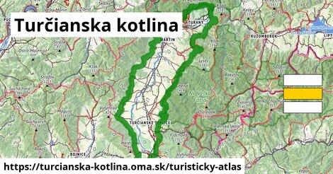 ikona Turčianska kotlina: 91km trás turisticky-atlas  turcianska-kotlina