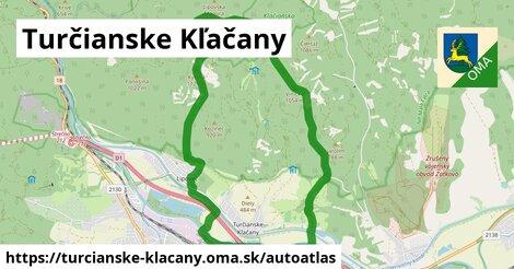 ikona Mapa autoatlas  turcianske-klacany