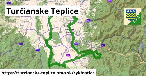 ikona Turčianske Teplice: 30km trás cykloatlas  turcianske-teplice