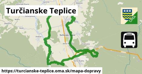 ikona Turčianske Teplice: 19km trás mapa-dopravy  turcianske-teplice