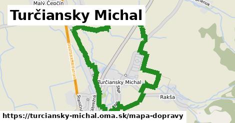 ikona Turčiansky Michal: 0m trás mapa-dopravy v turciansky-michal