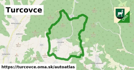 ikona Mapa autoatlas  turcovce