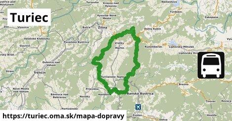 ikona Turiec: 240km trás mapa-dopravy  turiec