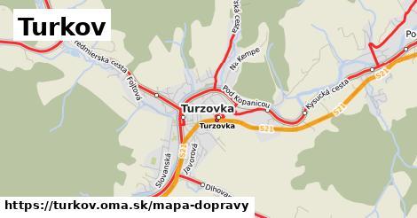 ikona Turkov: 1,67km trás mapa-dopravy  turkov