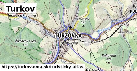 ikona Turkov: 0m trás turisticky-atlas v turkov