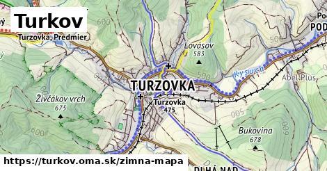 ikona Turkov: 9,7km trás zimna-mapa  turkov