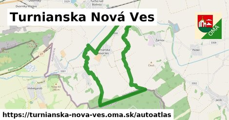 ikona Mapa autoatlas  turnianska-nova-ves